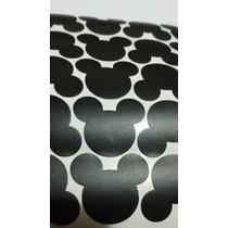 50 Apliques Adesivos Mickey Cabeça (uma Cartela) 1,9x2,3 Cm