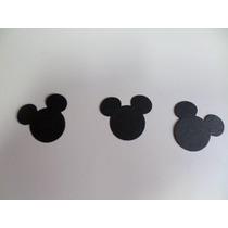 50 Recortes - Cabeça Mickey/minie = Papel Color Plus 180g!