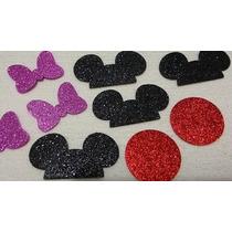 Recortes Em Eva P/ Montar Apliques Mickey E Minnie (25 Kits)