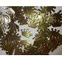 100 Apliques Coroa Dourada Cartolina Laminada