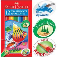 Lápis De Cor Aquarelável 12 Cores - Faber-castell- Confira
