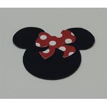 Recorte Mickey Scrapbook 180g 50un Cabeça E 50un Laço Festa