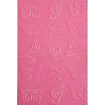 Placa Para Textura 10,5x15cm Sizzix Boutique Borboletas Ii