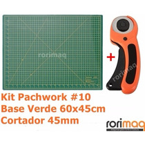 Kit Base De Corte 60x45cm + Cortador 45mm Patchwork #10