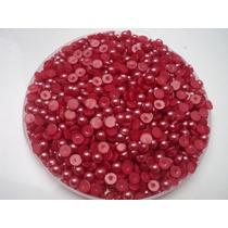 Meia Pérola Vermelha Abs 6mm - 1000 Pçs