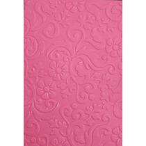 Placa Para Textura 10,5x15cm Sizzix Boutique Floral
