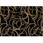 20 Folhas De Papel Presente Preto Dourado 50x60cm Co116