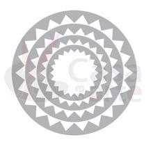 Faca Sizzix Circles, Zig Zag Com 04 Tamanhos 658690