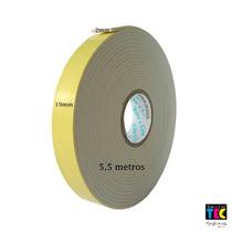 Kit C/ 10 Fitas Dupla Face Espuma Banana 5,5 Metros X 1,9cm