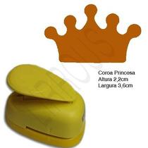 Furador Scrapbook Eva Coroa Princesa Corte 3,6cm