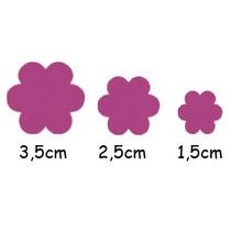 Kit C/ 3 Furadores Flor Tamanho 1,5cm 2,5cm E 3,5cm Tec
