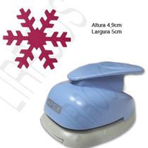 Furador Scrapbook Floco Neve Corte 5cm Frozen Festa