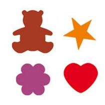 4 Furadores P/ Eva 1,5cm Urso Estrela Flor Coraçao