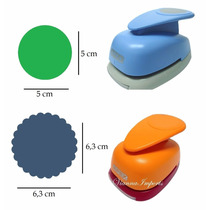 Furador Scrapbook Círculo Escalope 6cm + Círculo Liso 5cm