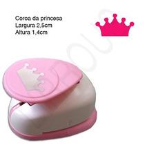Furador Scrapbook Coroa Princesa Largura 2,5cm Altura 1,4cm