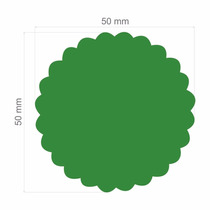Furador Papel Eva Círculo Escalopado 5cm + Escalopado 3,8cm