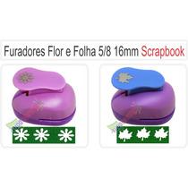 Furador Scrapbook Artesanato Flor E Folha 5/8 16mm Papel Eva