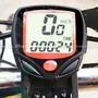 Ciclocomputador Velocímetro Bicicleta Fio 14 Funções Bike