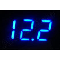 Voltímetro Azul Led 12v Medidor De Bateria Som Automotivoa