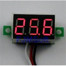 Mini Voltímetro Digital Com Remote 100v Medidor De Bateria