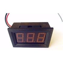 Voltimetro Digital Medidor De Bateria Moldura Vermelho Som