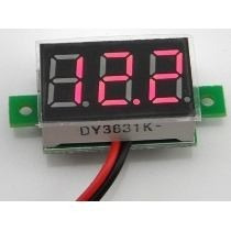 Mini Voltímetro Digital Medidor Bateria Vermelho Frete 10,00