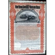 Apólice U S A - The New York Central And Hudson River 1898