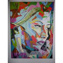 Tela Pintada À Mão A Tinta Acrílica 40cmx30cm Ref.021