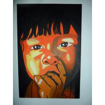 Tela Pintada À Mão A Tinta Acrílica 30cmx20cm Ref. 022
