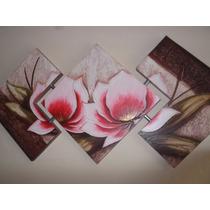 Super Promoção Telas, Quadros Decorativos De Flores Vermelha