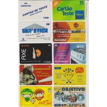 Cartões Telefônicos -raros / Lote Com 10 Cartões.
