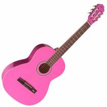 Violão Rosa Vogga Nylon Estudante Acústico Vca205 Pk Pink