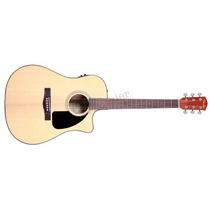 Violão Fender Cd-60-ce Dreadnought Com Case - Natural