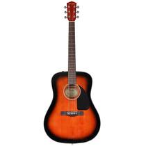 Violão Fender Dreadnought C/ Case Cd60 Cheiro De Música Loja