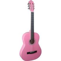 Ritmus ! Thomaz Tcg-360 A Violão Infantil Acústico Aço Rosa