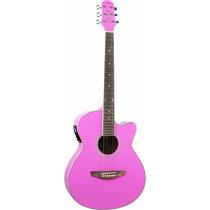 Violão Pink Rosa Aço Eletroacústico A W 51 C - Novo