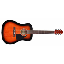 Violao Fender Dreadnought Cd60 Ce Acust Sunburst C/case Bk