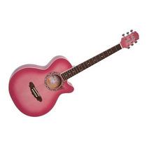 Ritmus : Gypsy Rose Gra1k Violão Juvenil Aço Bag Aces. Rosa