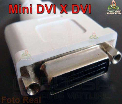 Adaptador Mini-dvi P/ Dvi Apple Macbook Ibook Imac Apple