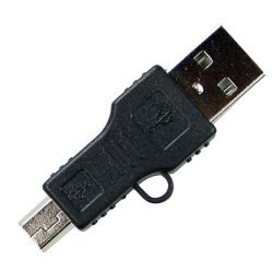 Adaptador Mini Usb 5 Pinos Macho Para Usb Macho