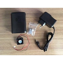 Kit Raspberry Pi 2 Case + Dissipador + Cooler + Fonte 5v 2a