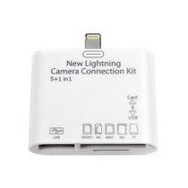 Adaptador Apple Ipad 4 Mini Leitor De Cartao E Usb Lightning