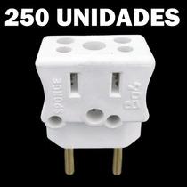Kit 250 Pino Adaptador Universal Tomada Benjamim Bob Esponja
