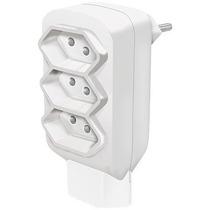 Pino Multiplicador 10a 4t 2p+t Branco - Sem Interruptor Com