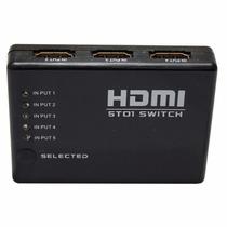 Aparelho Switch Hdmi Hd Com 5 Entradas E 1 Saída