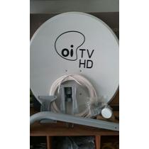 Kit Antena 60cm Oi Tv 100% Completo 15 Metros De Cabo