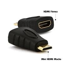 Adaptador Mini Hdmi Macho X Hdmi Femea Full Hd 1080i