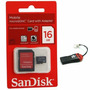Cartao Memoria Micro Sd Sandisk 16gb + Leitor Micro