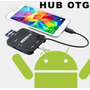 Hub Otg Usb Sd Card Reader P/ Smartphone E Tablet