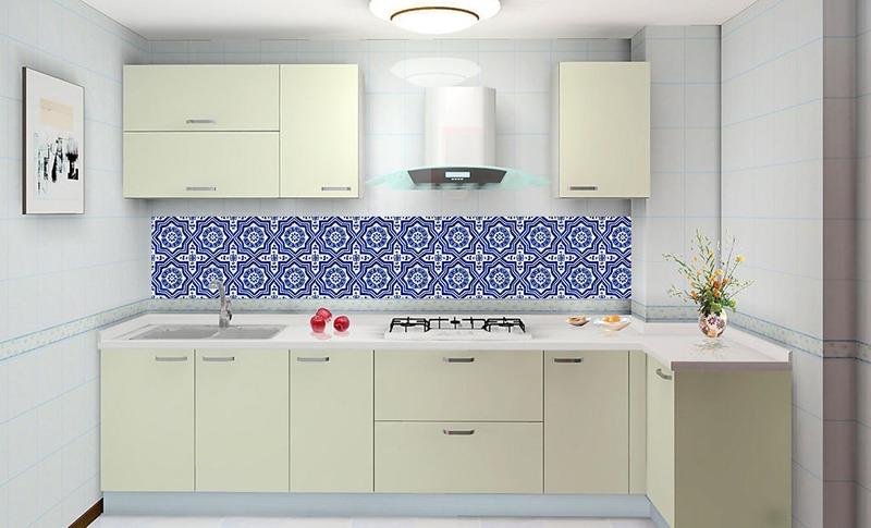 Aparador Rommanel ~ Adesivo Azulejo Decorativo Cozinha Banheiro Cód 001